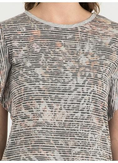 Loft Çizgili T-Shirt Gri